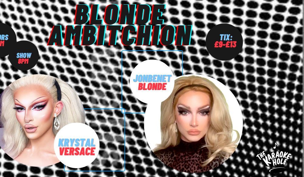 blonde ambitchion at the karaoke hole
