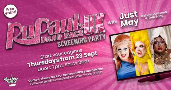 RuPaul's Drag Race UK Screening Party at The Karaoke Hole
